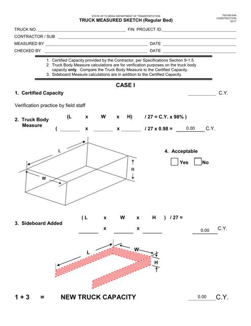 Form 700-050-54A  Printable Pdf