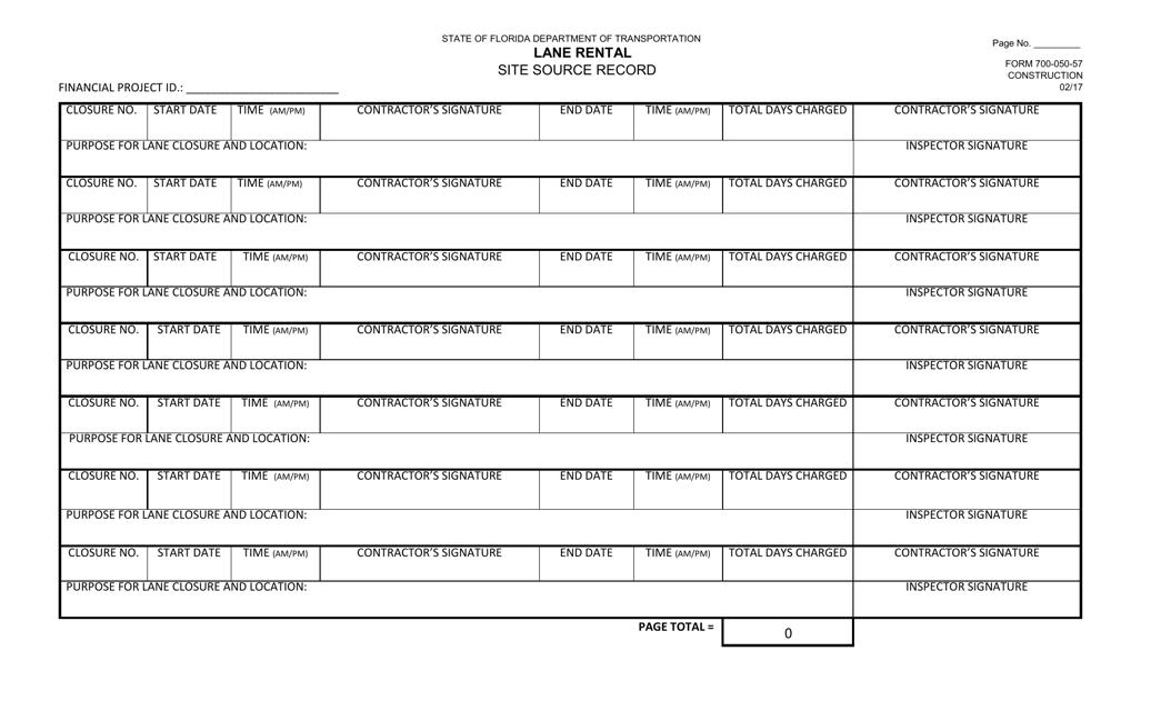 Form 700-050-57  Printable Pdf