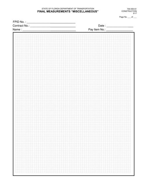 Form 700-050-61  Printable Pdf