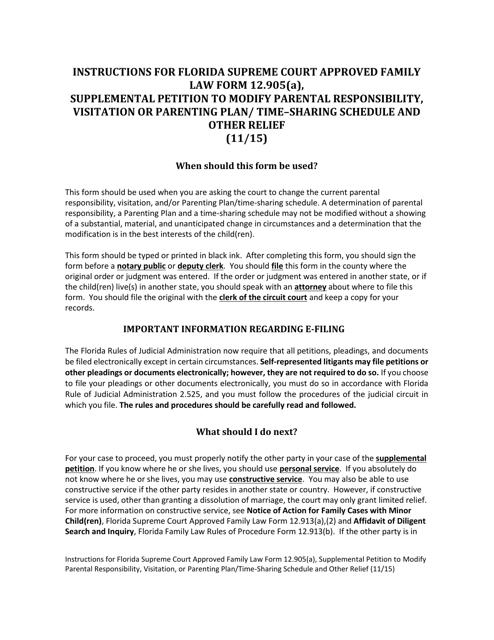 Form 12.905(A)  Printable Pdf
