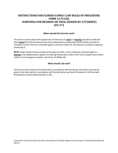 Form 12.911(B)  Printable Pdf