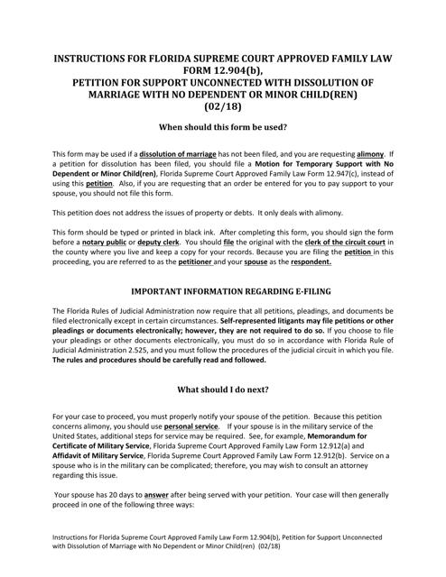 Form 12.904(B)  Printable Pdf