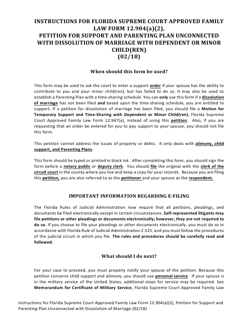 Form 12.904(A)(2)  Printable Pdf