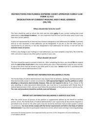 "Form 12.915 ""Designation of Current Address and E-Mail Address"" - Florida"
