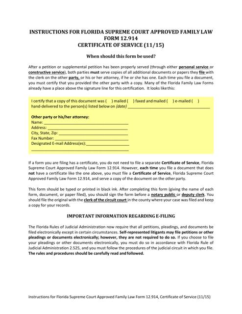 Form 12.914  Printable Pdf