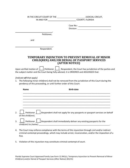 Form 12.941(C)  Printable Pdf