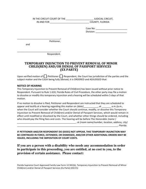 Form 12.941(B)  Printable Pdf