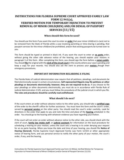 Form 12.941(A)  Printable Pdf