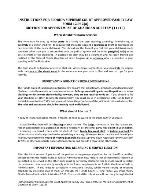 Form 12.942(A)  Printable Pdf