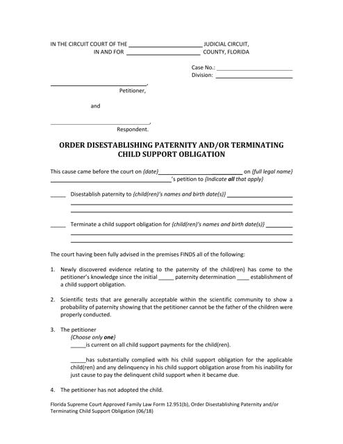 Form 12.951(B)  Printable Pdf