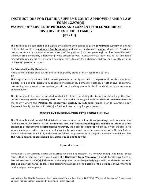 Form 12.970(D)  Printable Pdf