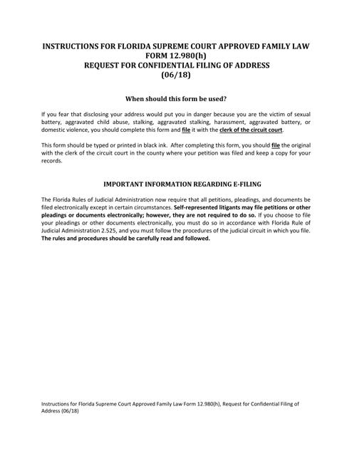 Form 12.980(H)  Printable Pdf