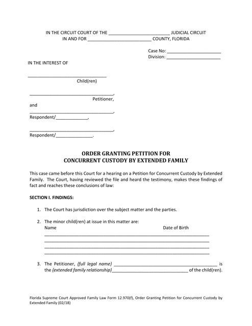 Form 12.970(F)  Printable Pdf