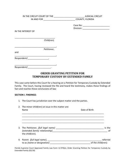 Form 12.970(E)  Printable Pdf