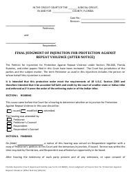 """Form 12.980(L) """"Final Judgment of Injunction for Protection Against Repeat Violence (After Notice)"""" - Florida"""