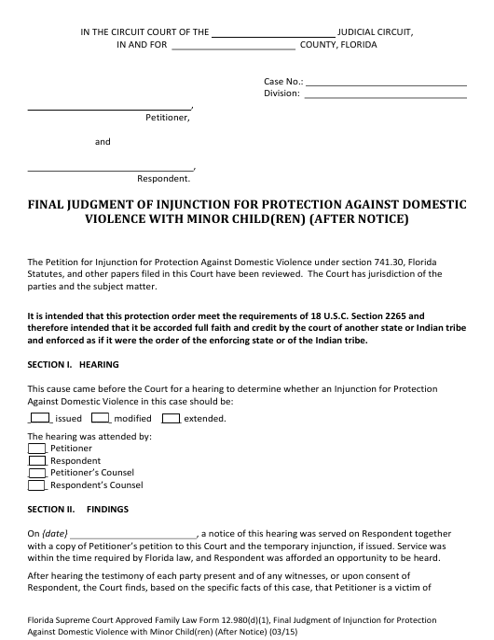 Form 12.980(D)(1)  Printable Pdf