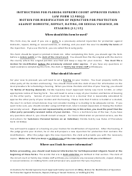 """Form 12.980(J) """"Motion for Modification of Injunction for Protection Against Domestic, Repeat, Dating or Sexual Violence, or Stalking"""" - Florida"""