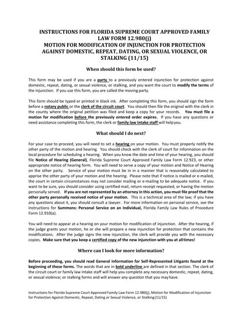 Form 12.980(J)  Printable Pdf