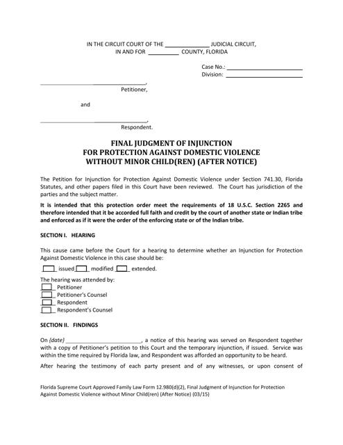 Form 12.980(D)(2)  Printable Pdf