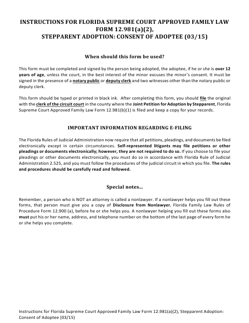 Form 12.981(A)(2)  Printable Pdf