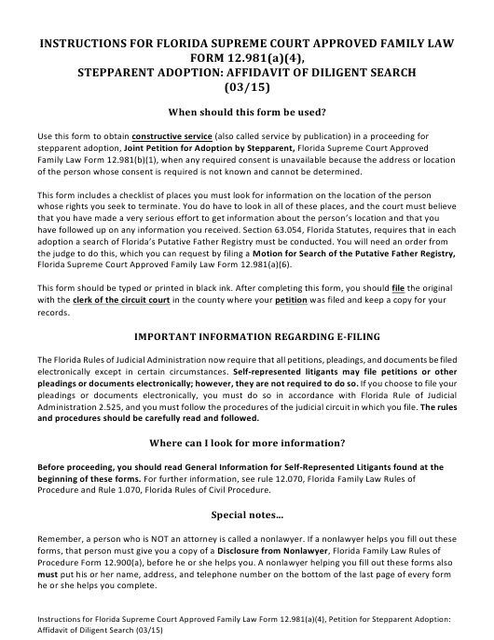 Form 12.981(A)(4)  Printable Pdf