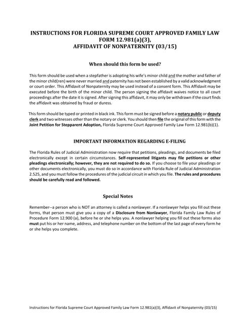 Form 12.981(A)(3)  Printable Pdf