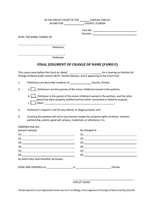 Form 12.982(G)  Printable Pdf