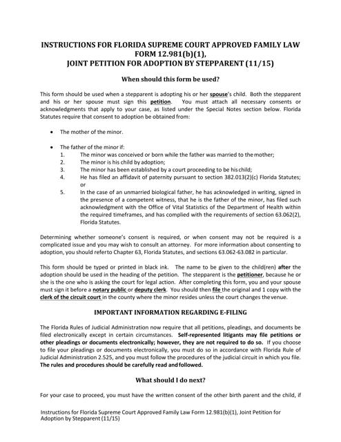Form 12.981(B)(1)  Printable Pdf