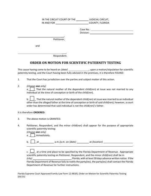 Form 12.983(F)  Printable Pdf