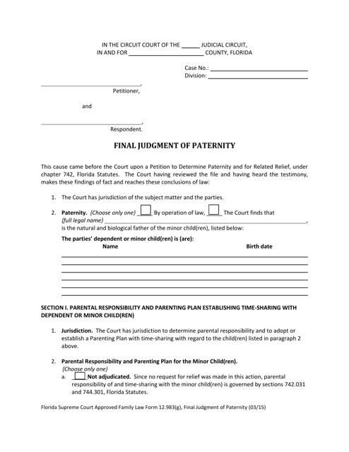 Form 12.983(G)  Printable Pdf