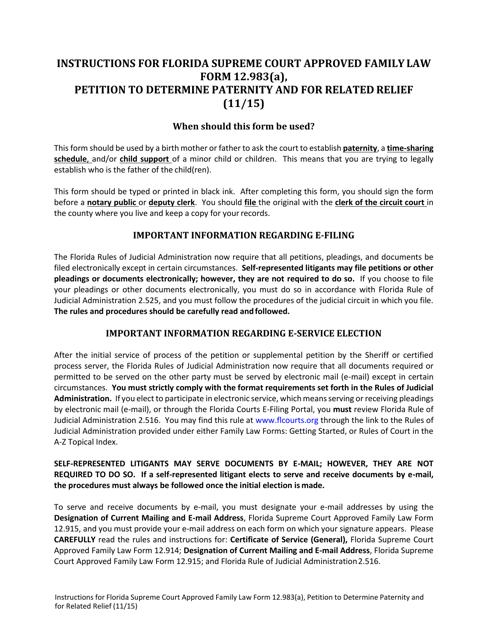 Form 12.983(A)  Printable Pdf