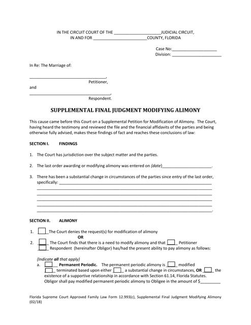 Form 12.993(C)  Printable Pdf