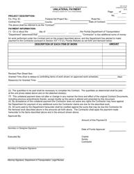 "Form 700-010-05 ""Unilateral Payment"" - Florida"