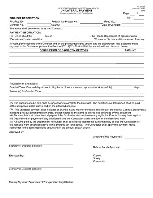 Form 700-010-05  Printable Pdf