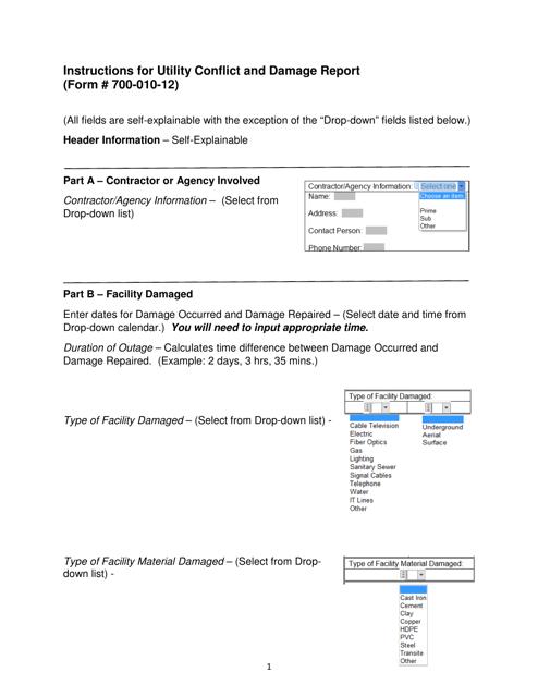 Form 700-010-12  Printable Pdf