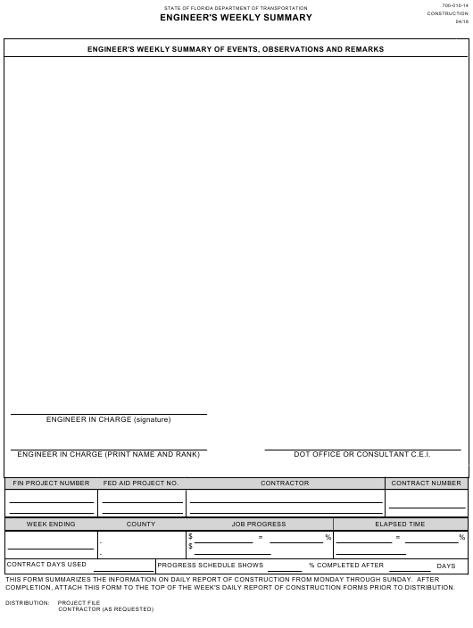 Form 700-010-14 Download Fillable PDF, Engineer's Weekly