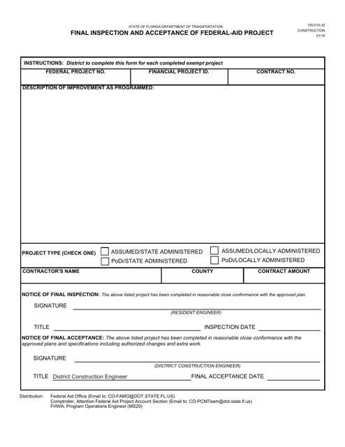 Form 700-010-32  Printable Pdf