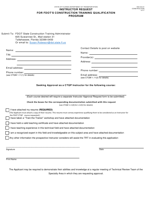Form 700-010-41  Printable Pdf