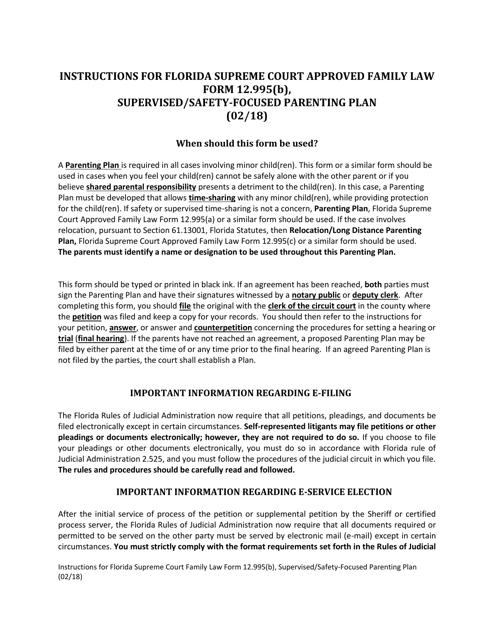 Form 12.995(B)  Printable Pdf