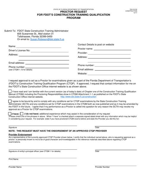 Form 700-010-50  Printable Pdf