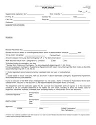 """Form 700-010-80 """"Work Order"""" - Florida"""