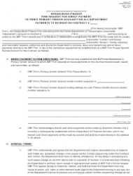 "Form 700-011-17 ""Design-Build-Finance Firm Request for Direct Payment to Firm's Primary Vendor Account for All Department Payments to Be Made on Contract"" - Florida"