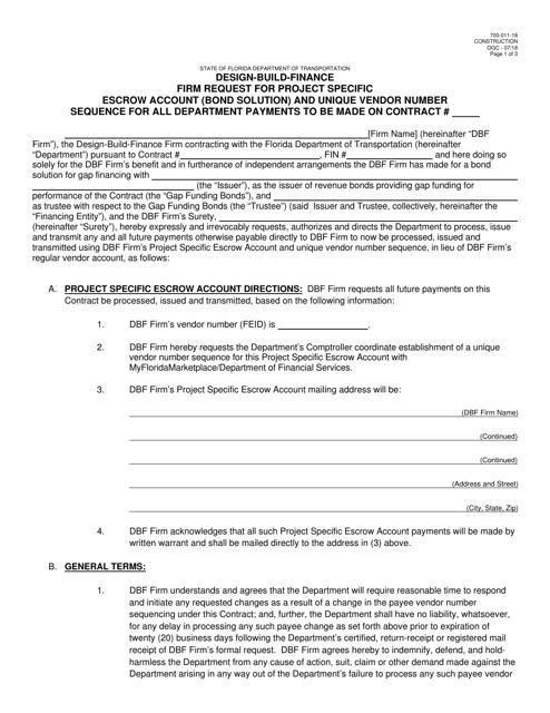 Form 700-011-18 Fillable Pdf