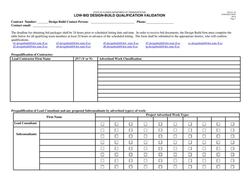Form 700-011-36  Printable Pdf