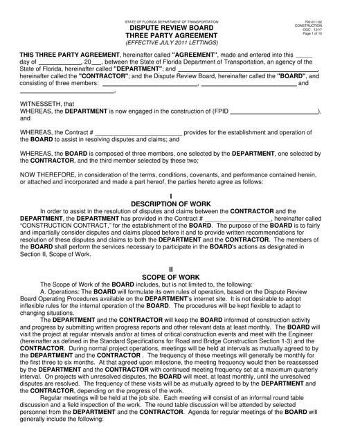 Form 700-011-02  Printable Pdf