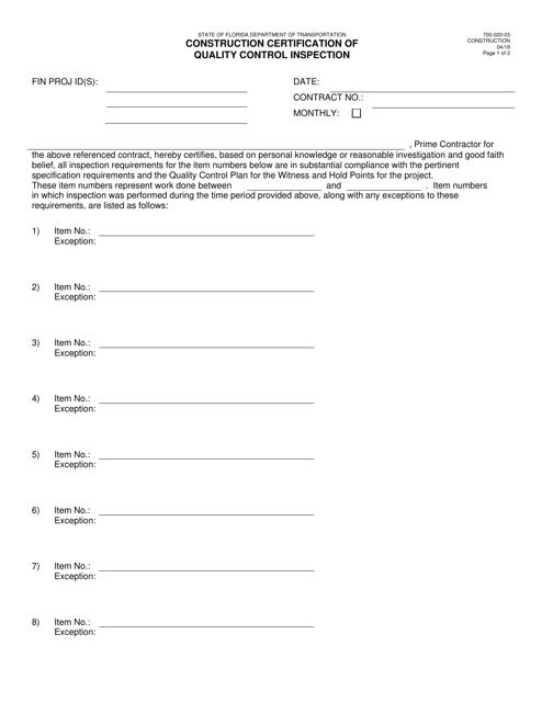 Form 700-020-03  Printable Pdf