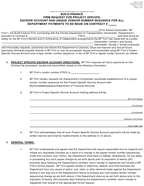 Form 700-011-16B  Printable Pdf