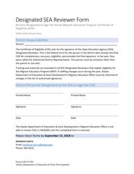 """Form 05-07-059 """"Designated Sea Reviewer Form"""" - Alaska"""