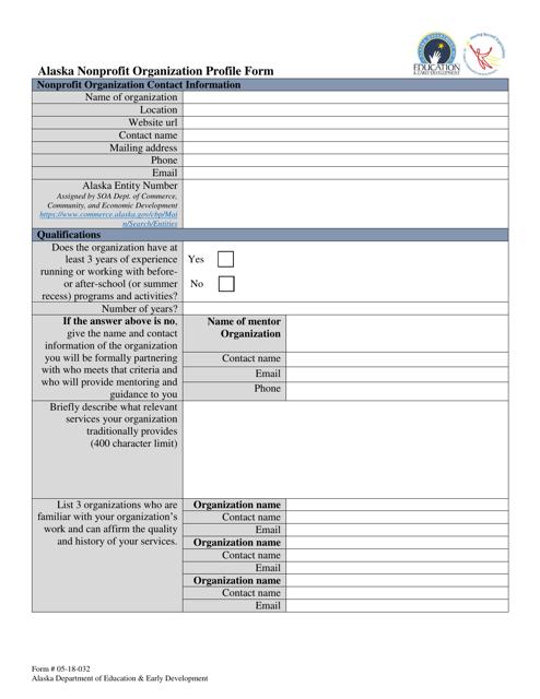 Form 05-18-032  Printable Pdf