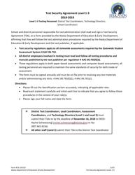 "Form 05-19-019 ""Test Security Agreement Level 1-3"" - Alaska, 2019"